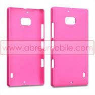 Capa Rigida Traseira Hibrida (Plastico C/Revestimento em Silicone) Para Nokia Lumia 930 Rosa Opaca