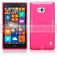 Capa Silicone Gel Para Nokia Lumia 930 Rosa Transparente
