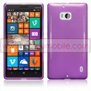 Capa Silicone Gel Para Nokia Lumia 930 Roxa Transparente
