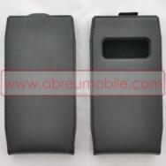 Bolsa / Capa Pele Sintetica Flip Cover Para NOKIA X7-00 Preta
