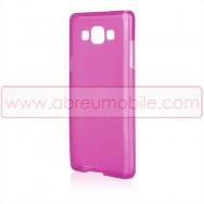 Capa Silicone Gel  Para SAMSUNG GALAXY A5 SM-A500F Rosa Transparente