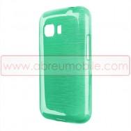 Capa Silicone Gel c/ Efeito Metal Escovado Para SAMSUNG GALAXY YOUNG 2 / G130 Verde