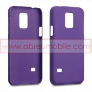 Capa Rigida Traseira Hibrida (Plastico C/Revestimento Fino em Silicone) para SAMSUNG GALAXY S5 MINI Roxa Opaca
