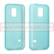 Capa Silicone Gel Para SAMSUNG GALAXY S5 MINI Azul Transparente