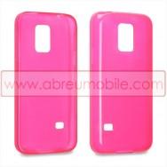 Capa Silicone Gel Para SAMSUNG GALAXY S5 MINI Rosa Transparente