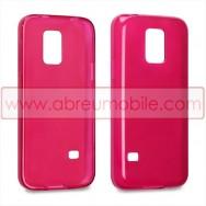 Capa Silicone Gel Para SAMSUNG GALAXY S5 MINI Vermelha Transparente