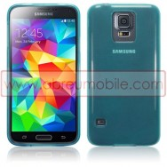 Capa Silicone Gel Para SAMSUNG GALAXY S5 G900 / S5 NEO G903 Azul Transparente
