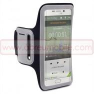 Bolsa / Capa Braçadeira Desporto Para SAMSUNG GALAXY S6 EDGE+ PLUS SM-G928 Preta c/ Reflector