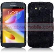 """Capa Rigida Traseira """"Brilhantes"""" Para Samsung Galaxy Grand I9080 / Duos I9082 / Neo I9060 I9062 Preta"""