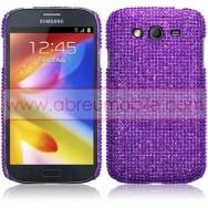 "Capa Rigida Traseira ""Brilhantes"" Para Samsung Galaxy Grand I9080 / Duos I9082 / Neo I9060 I9062 Roxa"