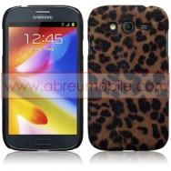 Capa Rigida Traseira (Plastico c/Revestimento em Pele Sintetica) Para Samsung Galaxy Grand I9080 / Duos I9082 / Neo I9060 I9062 Leopardo