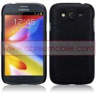 Capa Rigida Traseira (Plastico c/Revestimento em Pele Sintetica) Para Samsung Galaxy Grand I9080 / Duos I9082 / Neo I9060 I9062 Preta
