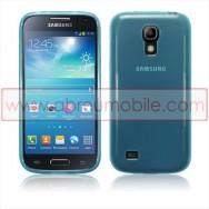 Capa Silicone Gel Para SAMSUNG GALAXY S4 IV MINI i9190 / i9192 / i9195 Azul Transparente