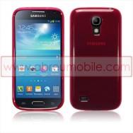 Capa Silicone Gel Para SAMSUNG GALAXY S4 IV MINI i9190 / i9192 / i9195 Vermelha Transparente