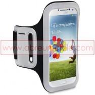 Bolsa / Capa Braçadeira Desporto Para Samsung Galaxy S4 IV I9500 Preta c/ Reflector