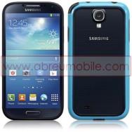 Capa Bumper Plastico/Silicone Para Samsung Galaxy S4 IV I9500 Azul e Preta