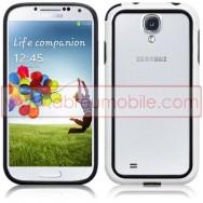 Capa Bumper Plastico/Silicone Para Samsung Galaxy S4 IV I9500 Preta e Branca