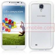 Capa Bumper Plastico/Silicone Para Samsung Galaxy S4 IV I9500 Transparente e Branca