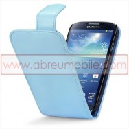 Bolsa / Capa Pele Sintetica v3 Flip Para Samsung Galaxy S4 IV I9500 Azul