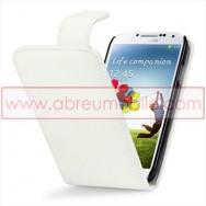 Bolsa / Capa Pele Sintetica v3 Flip Para Samsung Galaxy S4 IV I9500 Branca