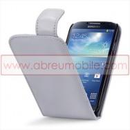 Bolsa / Capa Pele Sintetica v3 Flip Para Samsung Galaxy S4 IV I9500 Cinza