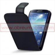 Bolsa / Capa Pele Sintetica v3 Flip Para Samsung Galaxy S4 IV I9500 Preta