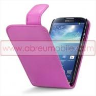 Bolsa / Capa Pele Sintetica v3 Flip Para Samsung Galaxy S4 IV I9500 Rosa