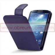 Bolsa / Capa Pele Sintetica v3 Flip Para Samsung Galaxy S4 IV I9500 Roxa