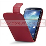 Bolsa / Capa Pele Sintetica v3 Flip Para Samsung Galaxy S4 IV I9500 Vermelha