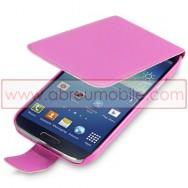 Bolsa / Capa Pele Sintetica Flip Fina Para Samsung Galaxy S4 IV I9500 Rosa