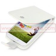 Bolsa / Capa Pele Sintetica Flip Para Samsung Galaxy S4 IV I9500 Branca