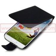 Bolsa / Capa Pele Sintetica Flip Fina Para Samsung Galaxy S4 IV I9500 Preta