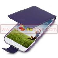 Bolsa / Capa Pele Sintetica Flip Fina Para Samsung Galaxy S4 IV I9500 Roxa
