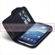 Bolsa / Capa Pele Sintetica Flip Horizontal Para Samsung Galaxy S4 IV I9500 Preta