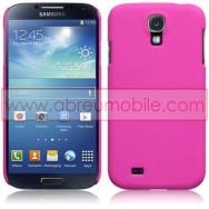 Capa Rigida Traseira Hibrida (Plastico C/Revestimento em Silicone) Para Samsung Galaxy S4 IV I9500 Rosa Opaca