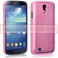Capa Rigida Traseira (Plastico C/Traseira em Aluminio) Para Samsung Galaxy S4 IV I9500 Rosa