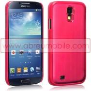 Capa Rigida Traseira (Plastico C/Traseira em Aluminio) Para Samsung Galaxy S4 IV I9500 Vermelha