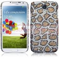 """Capa Rigida Traseira """"Brilhantes"""" Para Samsung Galaxy S4 IV I9500 Leopardo"""