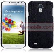 """Capa Rigida Traseira """"Brilhantes"""" Para Samsung Galaxy S4 IV I9500 Preta"""