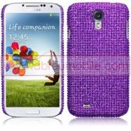 "Capa Rigida Traseira ""Brilhantes"" Para Samsung Galaxy S4 IV I9500 Roxa"