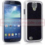 """Capa Rigida Traseira """"Brilhantes v2"""" Para Samsung Galaxy S4 IV I9500 Preta"""
