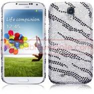 """Capa Rigida Traseira """"Brilhantes"""" Para Samsung Galaxy S4 IV I9500 Zebra"""