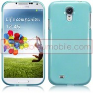 Capa Silicone Gel Para Samsung Galaxy S4 IV I9500 Azul Transparente