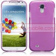 Capa Silicone Gel Para Samsung Galaxy S4 IV I9500 Roxa Transparente