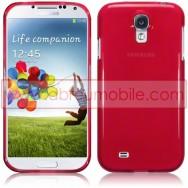 Capa Silicone Gel Para Samsung Galaxy S4 IV I9500 Vermelha Transparente