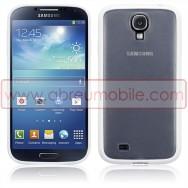 Capa Rigida Traseira Branca Transparente Para Samsung Galaxy S4 IV I9500 c/ Laterais Maleaveis Em Gel Branco
