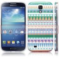 """Capa Silicone Gel Estampada """"Azteca"""" Para Samsung Galaxy S4 IV I9500"""