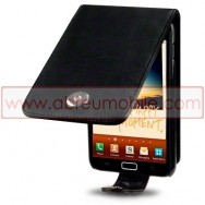 Bolsa / Capa Pele Sintetica Flip Cover Para SAMSUNG GALAXY NOTE N7000 Preta