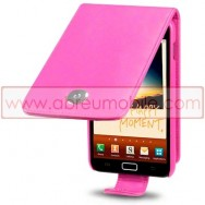 Bolsa / Capa Pele Sintetica Flip Cover Para SAMSUNG GALAXY NOTE N7000 Rosa
