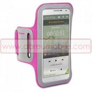 Bolsa / Capa Braçadeira Desporto Para SAMSUNG GALAXY NOTE 3 III N9000 N9002 N9005 Rosa c/ Reflector